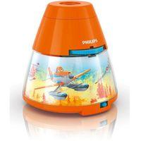 DISNEY - Lampka nocna Projektor LED Pomarańczowy Planes Wys.11,8cm (8718696122730)