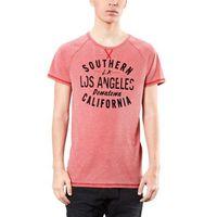 s.Oliver T-shirt męski M czerwony, poliester