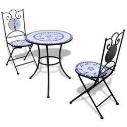Producent: elior Zestaw mebli ogrodowych karen - niebiesko-biały