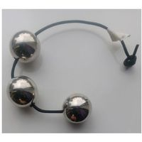 Anal balls Steel leather string 3x45mm