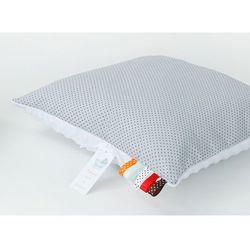 MAMO-TATO Poduszka Minky dwustronna 40x60 Kropki szare / biały