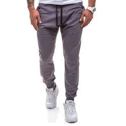 Grafitowe spodnie jeansowe joggery męskie Denley 0425-1 - GRAFITOWY, ATHLETIC
