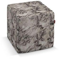 pokrowiec na pufę kostke, imitacja sierści, kostka 40x40x40 cm, freestyle do -30% marki Dekoria