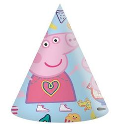 Procos disney Czapeczki urodzinowe świnka peppa - 6 szt. (5201184919965)