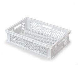 Plastikowa kratkowana skrzynka 600x400x150 mm, biała