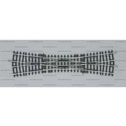 Rozjazd krzyżowy podwójny 15º dkw  55224 od producenta Piko
