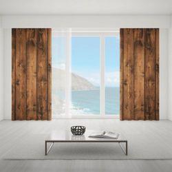 Zasłona okienna na wymiar - HORIZONTAL WOODEN BOARDS
