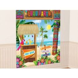 Hawajska dekoracja ścienna Luau Party - 5 elem. - produkt z kategorii- Gadżety