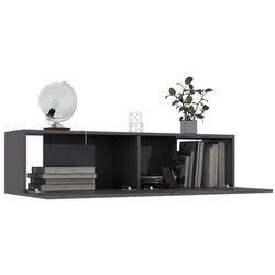 szafka tv, wysoki połysk, szara, 120x30x30 cm, płyta wiórowa marki Vidaxl