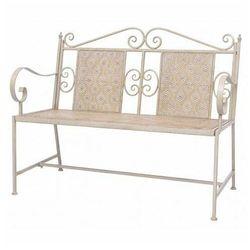 Metalowa ławka ogrodowa baldar - biała marki Elior