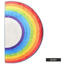 SELSEY Dywan do pokoju dziecięcego Dinkley Tęcza 85x160 cm