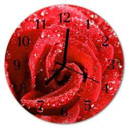 Tulup.pl Zegar ścienny okrągły róża