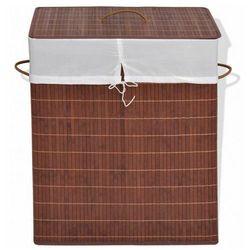 Pojemnik bambusowy zamykany Lavandi 5X - brązowy, vidaxl_245583