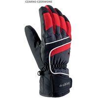 Viking Męskie rękawice narciarskie  biset czarno-czerwony 8
