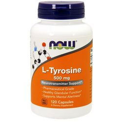 Now foods l-tyrozyna 500mg 120 kaps. wyprodukowany przez Now foods, usa