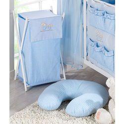 MAMO-TATO Kosz na bieliznę Wesołe zajączki w błękicie, towar z kategorii: Kosze na pranie