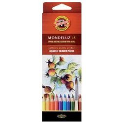 Kredki akwarelowe Koh-i-noor Mondeluz 18 kolorów 3717 z kategorii kredki akwarelowe