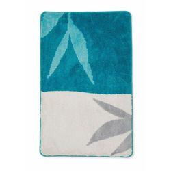 Dywaniki łazienkowe z motywem liści bonprix niebieski