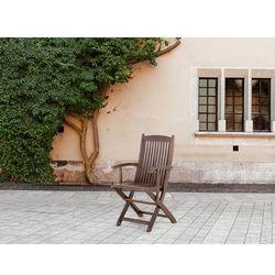 Beliani Krzesło ogrodowe - z podłokietnikami - ogród - meble ogrodowe - maui (7081454440782)