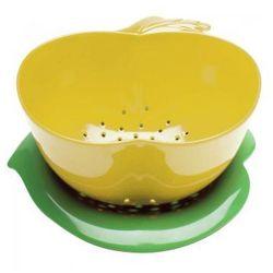 Zak! - Durszlak z podstawką, żółty, towar z kategorii: Durszlaki, cedzaki i sitka