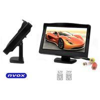 """NVOX HM5002 Monitor samochodowy cofania lub wolnostojący LCD 5"""" cali LED AV 12V 24V (5901867720610)"""