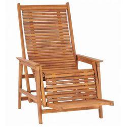 Elior Regulowane krzesło ogrodowe z podnóżkiem - dilia