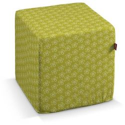 Dekoria pufa kostka, kwiatki na zielonym tle, 40 × 40 × 40 cm, wyprzedaż do -50%