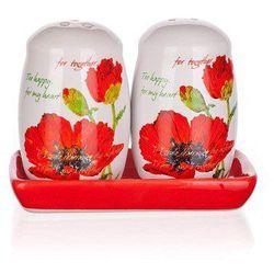 red poppy solniczka i pieprzniczka, marki Banquet