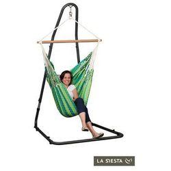 Zestaw hamakowy: dwuosobowy fotel hamakowy carolina ze stojakiem mediterraneo, zielony cac16mea12 marki La siesta