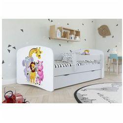 Łóżko dziecięce z barierką Happy 2X mix 80x160 - białe