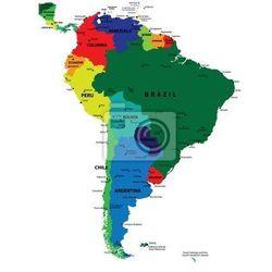 Obraz Mapa polityczna Ameryki Południowej vector, produkt marki Redro