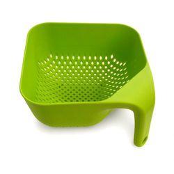 Durszlak kwadratowy - 21 cm - zielony - 21 cm