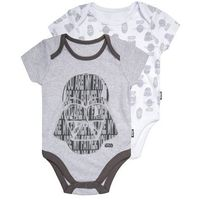 mothercare STAR WARS 2 PACK Body pale grey