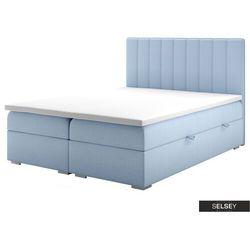 łóżko kontynentalne z pojemnikiem hunbert marki Selsey
