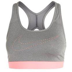 Nike Performance CLASSIC Biustonosz sportowy carbon heather/dark grey/lava glow