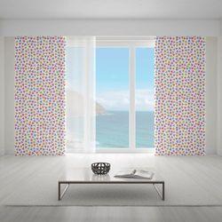 Zasłona okienna na wymiar - GOLD PINK GREY TRIANGLES