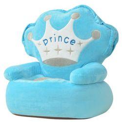 fotel dla dzieci prince, pluszowy, niebieski marki Vidaxl