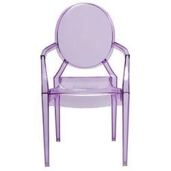 Krzesło dziecięce Royal Jr fioletowy transparentny - D2 Design - Zapytaj o rabat!, d2-5230