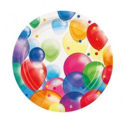 Amscan Talerzyki urodzinowe baloniki - 23 cm - 8 szt.