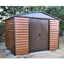Domek ogrodowy metalowy brown 2430 x 1970 marki Yardmaster