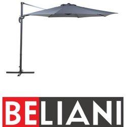 Beliani Parasol ogrodowy - antracytowy - ø 291 cm - na wysięgniku - metalowy - savona (4260580936328)