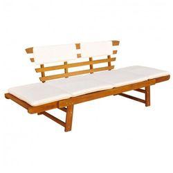 Drewniana ławka ogrodowa Issen - brązowa