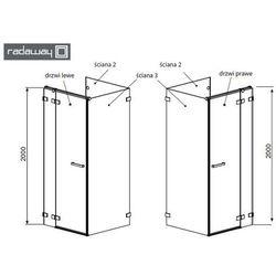euphoria kdj (kdj p) drzwi jednoczęściowe uchylne - drzwi 110cm 383041-01l lewe, marki Radaway
