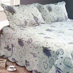 4-home Narzuta na łóżko lawenda, 230 x 250 cm, 2x 50 x 70 cm (8595183318735)