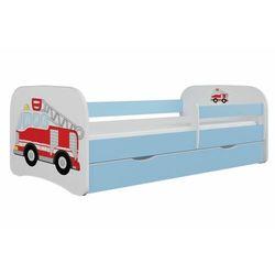 Łóżko dla dziecka, barierka, babydreams, straż pożarna, niebieskie
