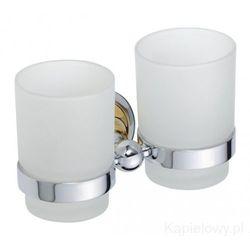 RETRO Kubek szklany podwójny chrom-złoto 144210028, 144210028