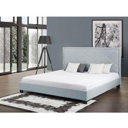Łóżko błękitne - łóżko tapicerowane - 160x200 cm - MARSEILLE (7081458992362)
