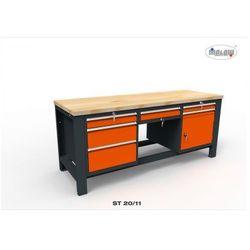 """Malow Stół warsztatowy st20/11 """"trójka"""" szerokość 200 cm 6 szuflad"""