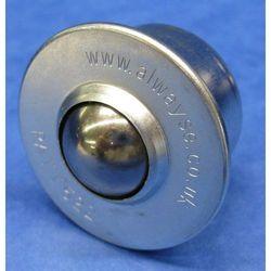 Rolka kulowa z elementem mocującym, z kulką ze stali szlachetnej, Ø kulki 30 mm, marki Unbekannt