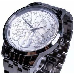 Zegarek ze srebrną monetą Wiedeńscy Filharmonicy